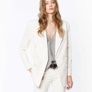 Zadig & Voltaire *Brand New* White Cotton Blazer